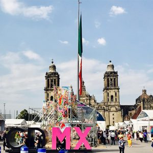View of Zocalo Plaza in Mexico D.F.